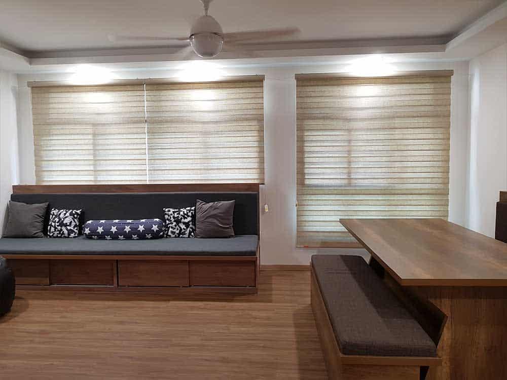 beige korean blinds in hdb bto flat