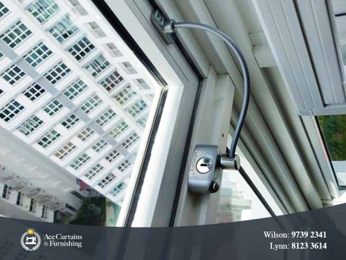 Remsafe cable lock for high rise condo flat keeps child and family safe.