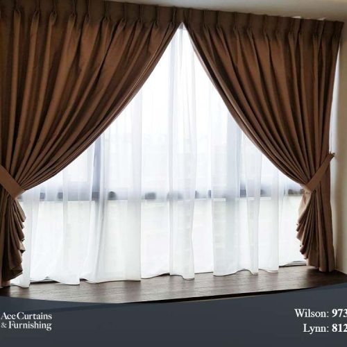 Day and night curtains for Coco Palms condo living room.