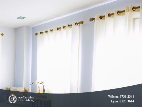 Sheer eyelet curtains with a luxury style that filters soft light.