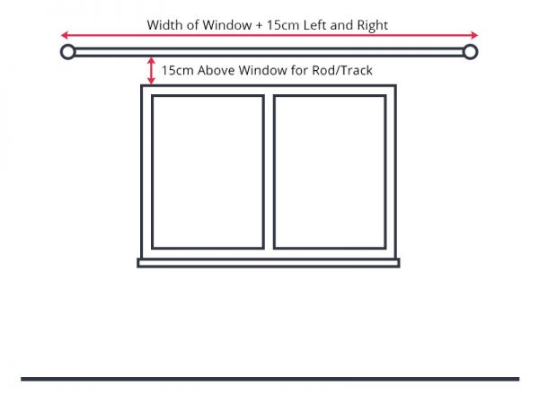How to measure your windows to get dimensions for curtain rod or track.