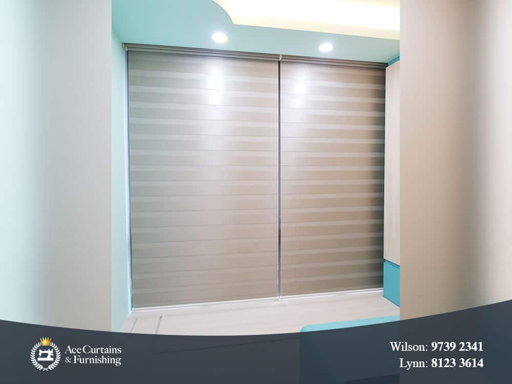 Korean Combi blinds for kids bedroom that blocks out light.