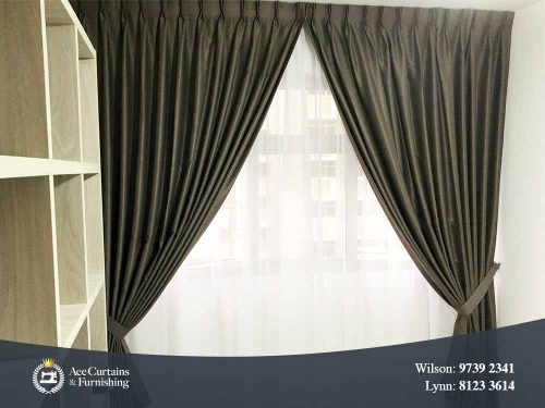 Day and night curtains set for living room provides privacy.